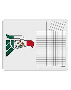 Hecho en Mexico Eagle Symbol - Mexican Flag Chore List Grid Dry Erase Board by TooLoud