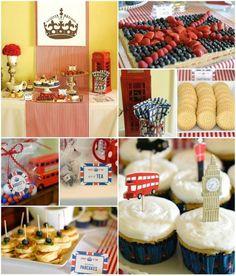 """""""London Calling""""- A British Themed Birthday Bash FULL of CUTE IDEAS via Kara's Party Ideas   Kara'sPartyIdeas.com #London #BritishParty #TeaParty #Ideas #Supplies (1)"""