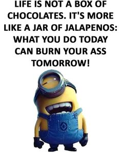 Top 97 Funny Minions quotes and sayings 55 Find very good Jokes, Memes and Quotes on our site. Keep calm and have fun. Funny Pictures, Videos, Jokes & new flash games every day. Minion Humour, Funny Minion Memes, Minions Quotes, Funny Jokes, Hilarious, Fun Funny, Funny Blogs, Humor Humour, Funny Stuff
