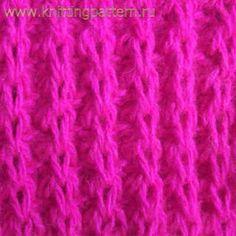 Узор для вязания спицами Резинка с накидами
