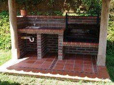 17 Amazing Outdoor Barbeque Design Ideas - Local Home US - Home Improvement Outdoor Barbeque, Outdoor Oven, Outdoor Fire, Outdoor Cooking, Outdoor Tables, Outdoor Decor, Barbeque Design, Parrilla Exterior, Brick Grill