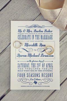 Invitation / Vintage Wedding