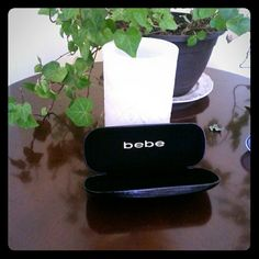 Bebe  - Hard Eye Glass Case  ,sping hing Eye Glass Case bebe  ,black shiny shell  black inside.  bebe Accessories
