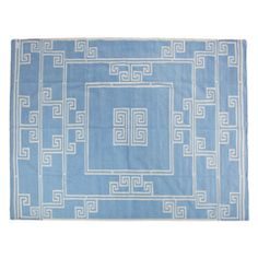 Dhurrie Carpet in Blue and White thumbnail 1