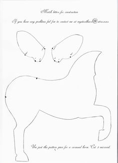 House of Pugish: Free pattern Animal Sewing Patterns, Stuffed Animal Patterns, Diy Stuffed Animals, Cutting Horses, Free Horses, Felt Mobile, Horse Pattern, Paper Animals, Crafts To Make And Sell