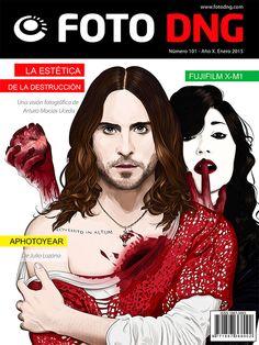 Revista Foto DNG 101, portada con Jared Leto y Sue Rainbow por Diego Cambre
