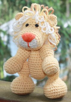 Crochet Lion Stuffed Animal by SistersBoutique2 on Etsy, $20.00