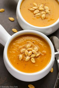 Butternut Squash Soup Recipe | EverydayEasyEats.com