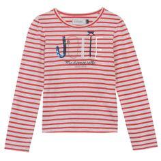 T-shirt jersey rayé coquelicot et blanc - Edition limitée