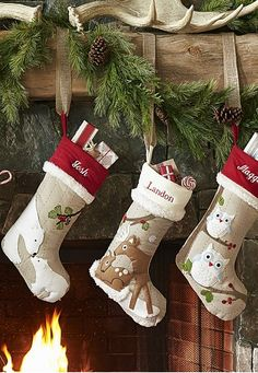 Woodland stocking collection. Oh so cute!