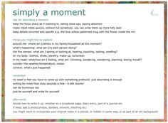 General details on the 'Simply A Moment' meme hosted by Simply Alexa. As mentioned in Chapter 8 of #PushUpBraBlogging http://notesonpaper.blogspot.co.uk/2013/04/push-up-bra-blogging-8-austin-kleon.html
