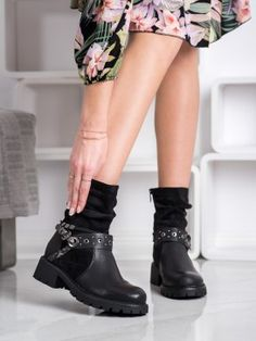 Zateplené čierne workery Tommy Hilfiger, Biker, Chelsea, Boots, Products, Fashion, Crotch Boots, Moda, Fashion Styles