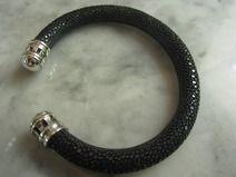 Armreif Rochenleder Armband Halskette Reif Silber