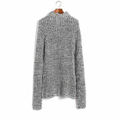 The latest color wool turtleneck long sections of knitted sweater