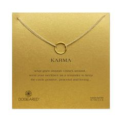 karma double chain necklace, gold dipped