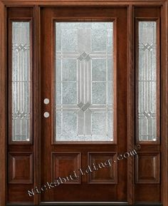 front doors with sidelights | Exterior Wood Doors with two sidelights quick ship