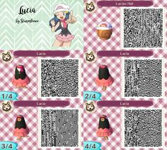 animal crossing new leaf qr code pokemon diamond pearl lucias dress and hat cap lucia outfit for acnl design by sturmloewe