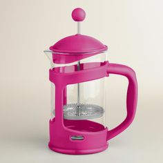 Pink 3-Cup French Press - World Market