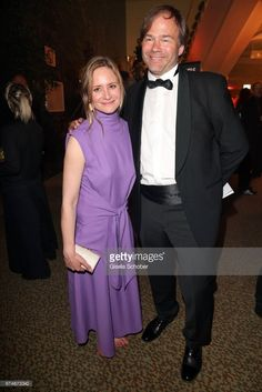 Julia Jentsch and her husband Christian Habluetzel barefoot during the Lola - German Film Award 2017 (Deutscher Filmpreis) after party at Palais am Funkturm on April 28, 2017 in Berlin, Germany.