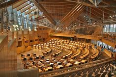 The Scottish Parliament Building the Debating Chamber http://www.architonic.com/aisht/scottish-parliament-building-ovi-office-for-visual-interaction/5101017