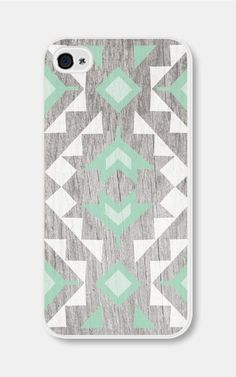 Mint Geometric Phone Case iPhone 4 / 4s or iPhone 5