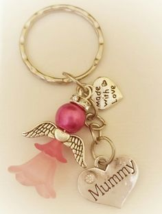 A pretty flower fairy / angel keyring made with love for Mother's Day