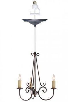 Hate my rental, but want to replace my recessed light  with this simple chandelier.