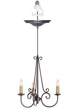 chandelier light conversion kit conversion kits pendant lighting. Black Bedroom Furniture Sets. Home Design Ideas