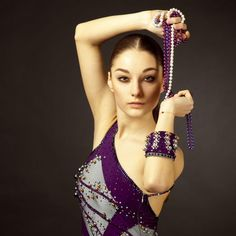 Steel and Purple Latin dress with Pearls - Ballroom Sparkle Pearl Dress, Designer Dresses, Sparkle, Couture, Pearls, Steel, Designer Gowns, Beaded Gown, Beads