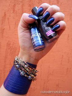 Risqué Azulcrination e Colorama Mesquita Azul www.blogcasademaria.com.br