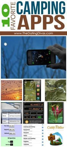 10 of the best camping apps! And lots of other top 10 camping lists (activities, food, organizing, etc)