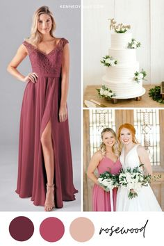 On the hunt for the perfect long pink bridesmaid dresses? Kennedy Blue has you covered! Pink Bridesmaid Dresses, Lace Bridesmaid Dresses, Wedding Dresses, Chiffon Skirt, Chiffon Fabric, Winter Wedding Colors, Wedding Colours, Lace Bodice, Bridal Style