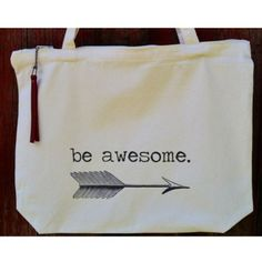 Be Awesome - Zipper Top Large Canvas Tote Bag - $34.00