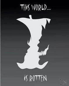 """Deathnote: """"This world is rotten,"""" Light and Ryuk fan art"""