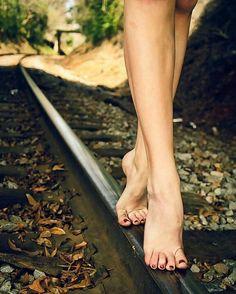 walkin' the rails. sexy!