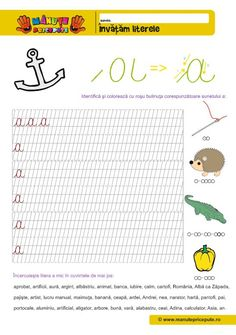 A Archives - Manute Pricepute Education Quotes, Kids Education, Homework Games, Spring Coloring Pages, Kids Poems, Cursive Letters, Learning The Alphabet, Preschool Worksheets, Creative Kids