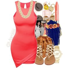 A fashion look from February 2015 featuring mini dress, thong sandals and crossbody purse. Browse and shop related looks.