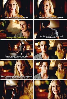 Tyler doesn't deserve her. Now we may finally get a Klaroline (though am kind of likely the family man Klaus)