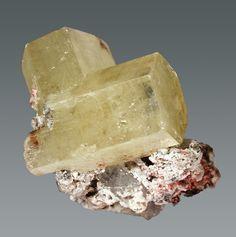 Mimetite  Tsumeb, Namibia  Thumbnail, 1.9 x 1.7 x 2.0 cm / Mineral Friends <3