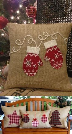 Sewing Crafts Pillows Fun Ideas For 2019 Christmas Sewing Projects, Christmas Crafts, Christmas Decorations, Christmas Ornaments, Christmas Applique, Christmas Pillow, Christmas Cushions To Make, Christmas Patchwork, Rustic Christmas