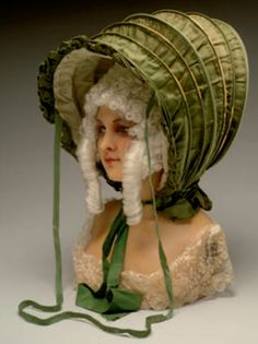1770-1780s Calash, which was designed to protect women's large 18th century hairstyles from the elements. It was collapsible and made of silk.