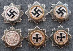 Assortment of very rare war time and post war German Cross awards.....