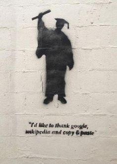 Funny pictures about Truthful Graduation Speech. Oh, and cool pics about Truthful Graduation Speech. Also, Truthful Graduation Speech photos. Street Art Banksy, Graffiti Art, Street Art Quotes, Berlin Graffiti, Arte Banksy, Bansky, Banksy Girl, Urbane Kunst, Graduation Speech