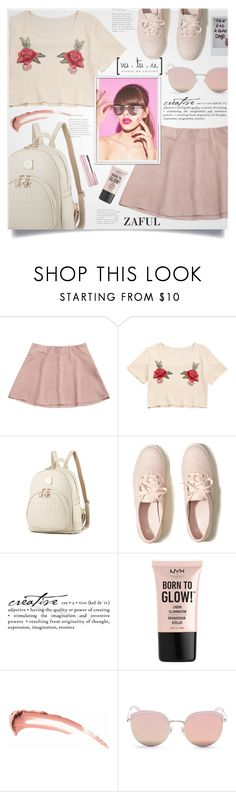 """""""Zaful II/12"""" by lillili25 ❤ liked on Polyvore featuring Hollister Co., WALL, NYX and Stephane + Christian"""