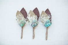 beachy boutonnieres with shells