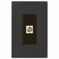 Mies Screwless Aged Bronze Cast - 1 Cable Jack Wallplate