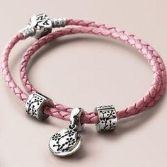 Pandora Limited Edition Pink Double Leather Bracelet  See more Pandora bracelets from http://pandora.vveebly.net