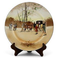 Coaching Plate – Royal Doulton Seriesware 1