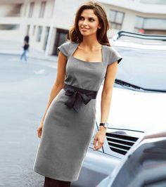 Modernos vestidos tipo sastre para la oficina  http://vestidoparafiesta.com/modernos-vestidos-tipo-sastre-para-la-oficina/