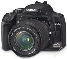 Canon EOS 400D s příslušenstvím   2 objektivy